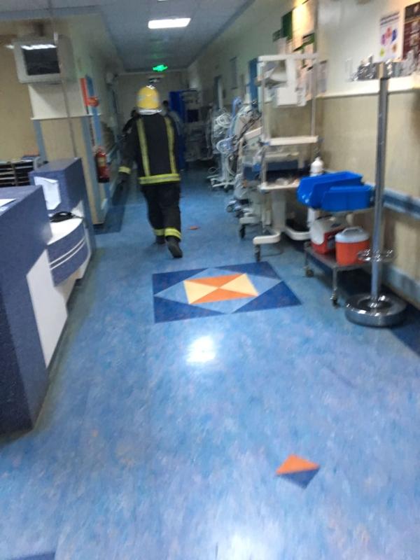 حريق مستشفى الملك_فهد2