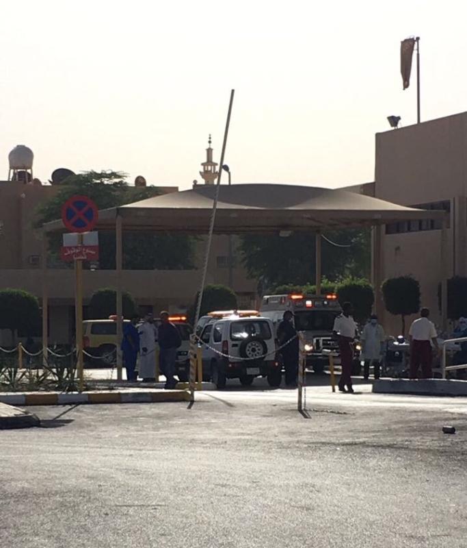 حريق مستشفى سعود بعنزية