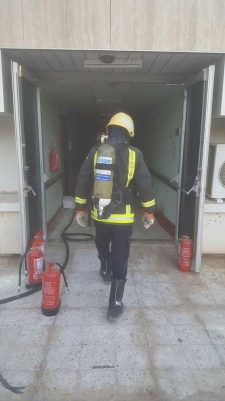 حريق مستشفى صامطة11