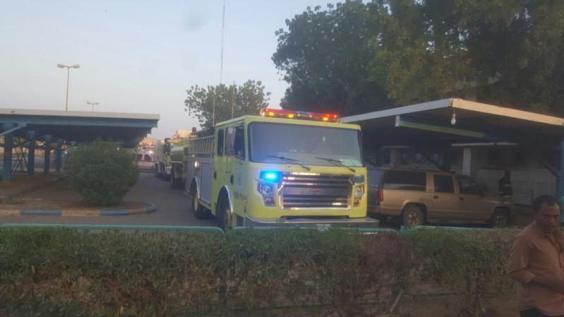 حريق مستشفى صامطة2