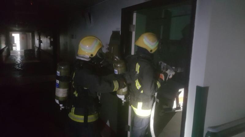 حريق مستشفى صامطة4