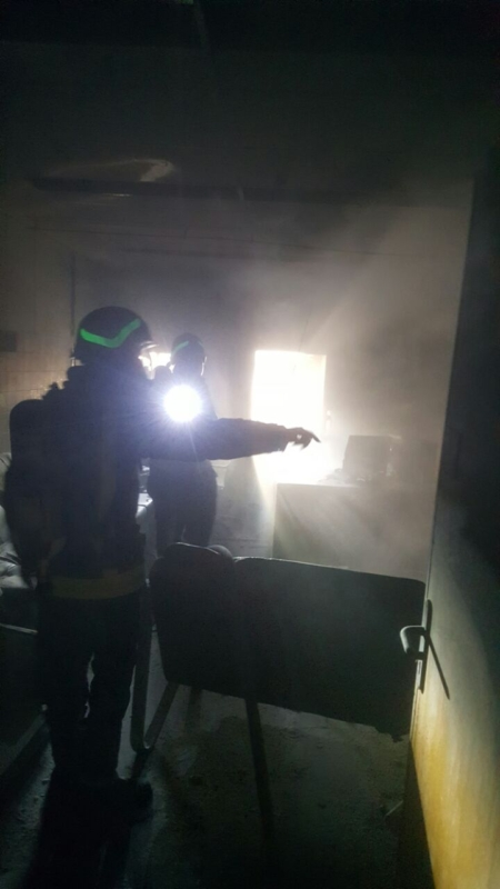 حريق مستشفى صامطة5