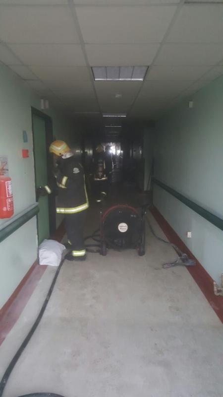حريق مستشفى صامطة9