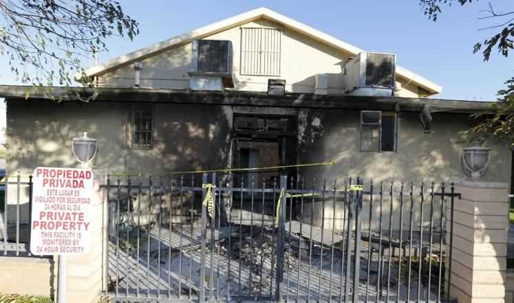 حريق-مسجد-بكاليفورنيا