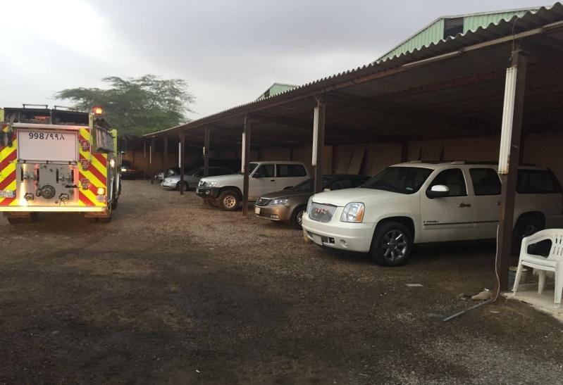 حريق معرض سيارات بينبع (2)