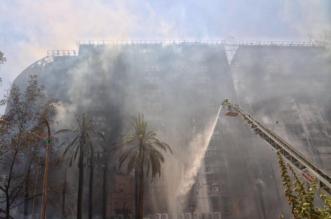 بالفيديو.. لحظة اشتعال النيران في فندق حي العزيزية بمكة اليوم - المواطن