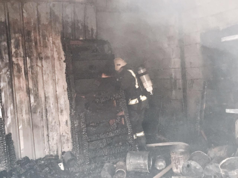 حريق مناجر المدينة (1)