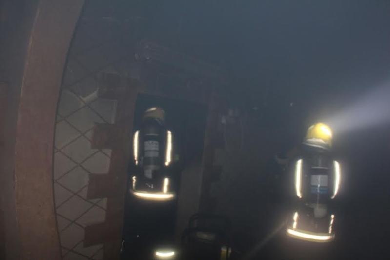 حريق منزل الحصن2
