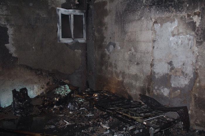 حريق منزل بالحي الأخضر بالقصيم (1)