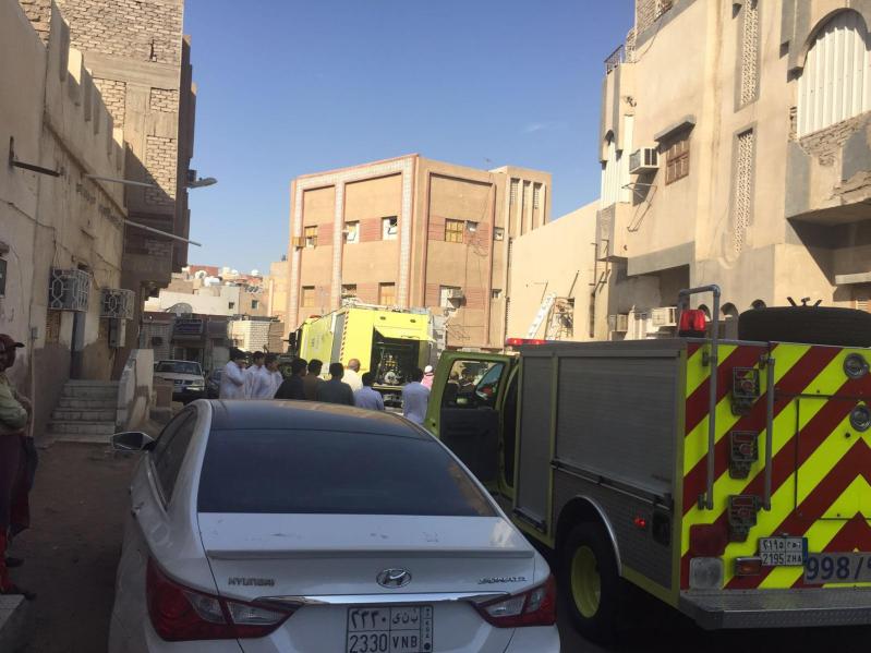حريق منزل بالمدينة المنورة  (3)
