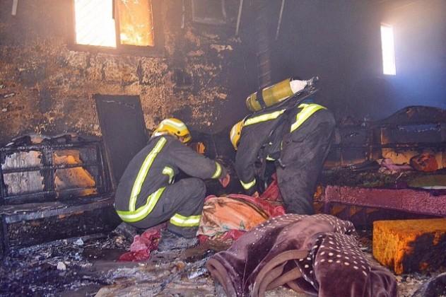 حريق-منزل-بحائل