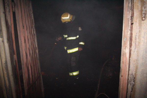 حريق منزل بسكاكا (1)