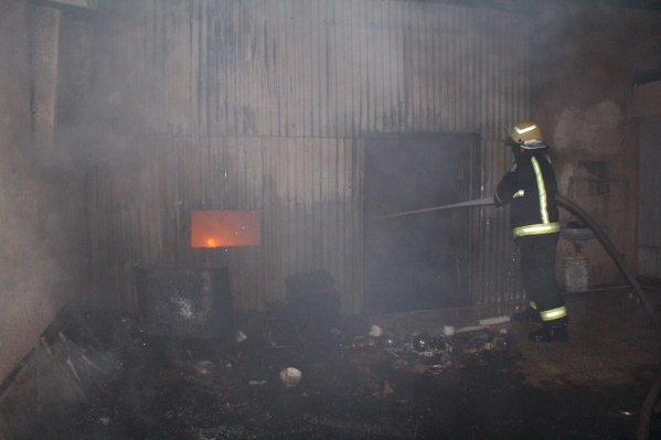 حريق منزل بسكاكا (2)
