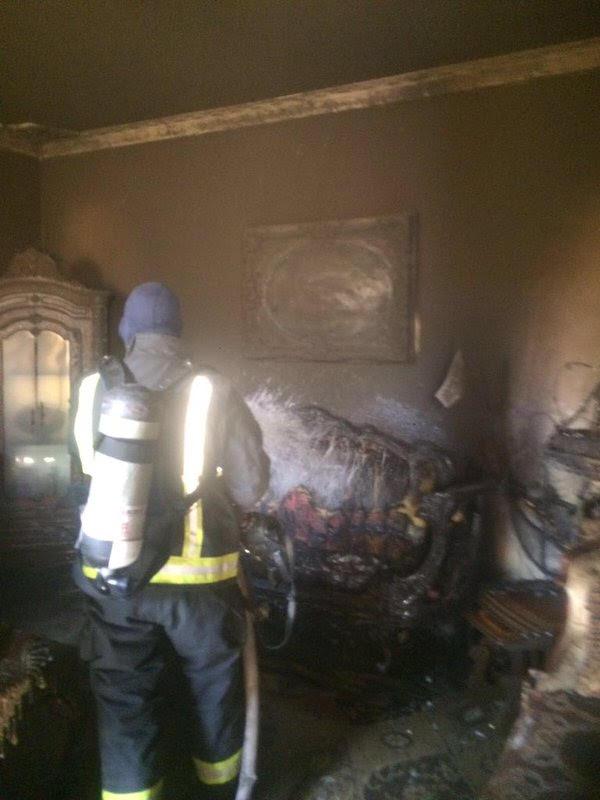 حريق منزل بـ #وادي_الدواسر