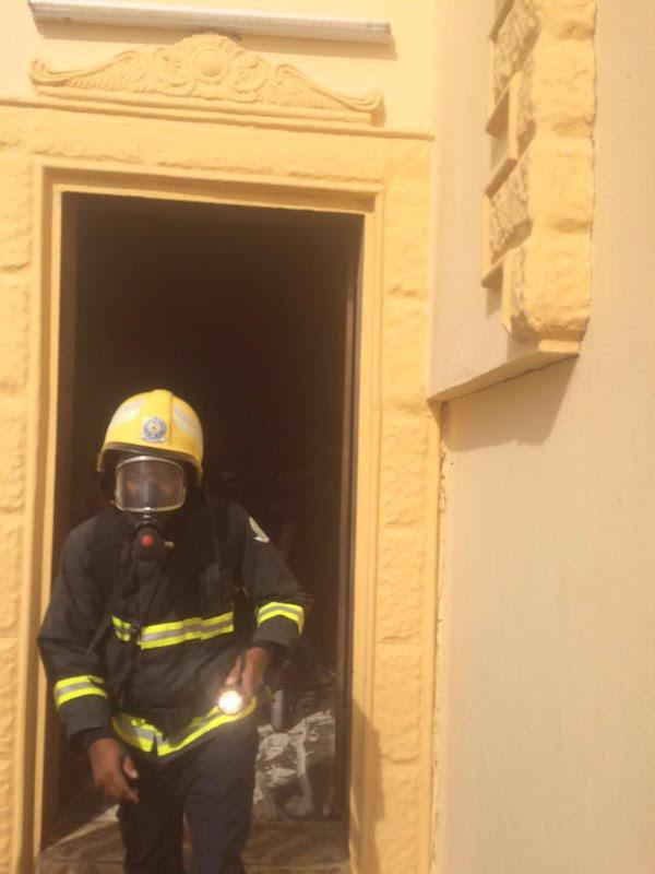 حريق منزل بـ #وادي_الدواسر2
