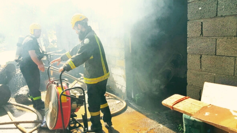 حريق منزل نجران