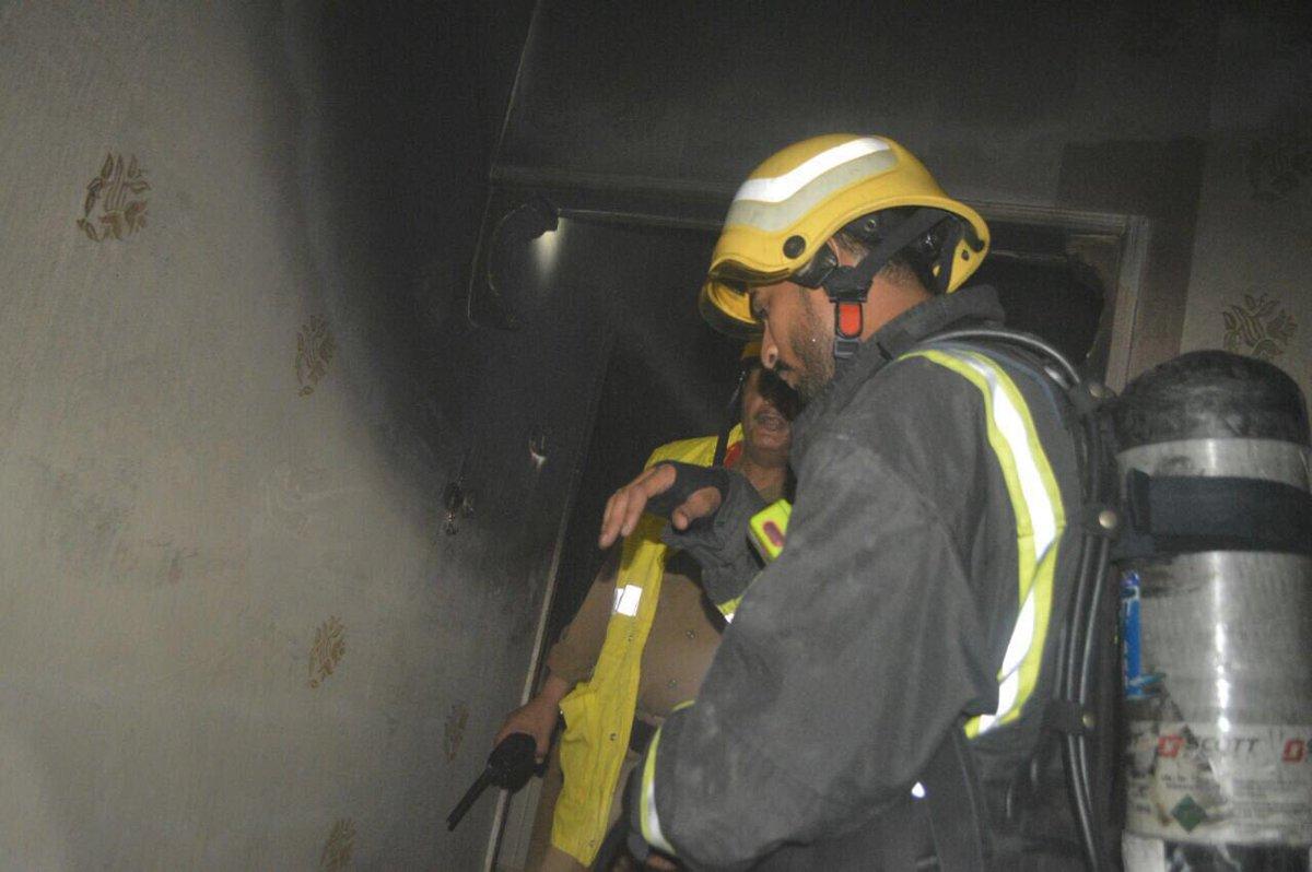 حريق منزل شعبي في جدة (3)