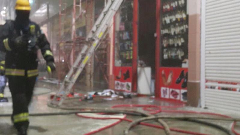 حريق نشب في ميزان للتخزين 1