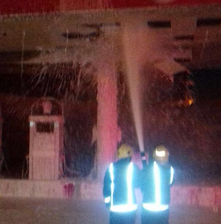 حريق هائل بمحطة وقود بالمدينة المنورة