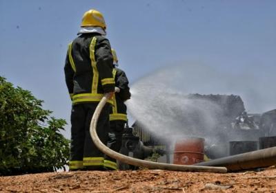 حريق يلتهم سيارة بمزارع  حقروصين2