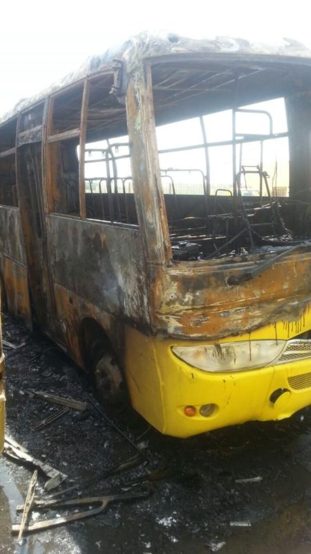 حريق 7حافلات بجازان12