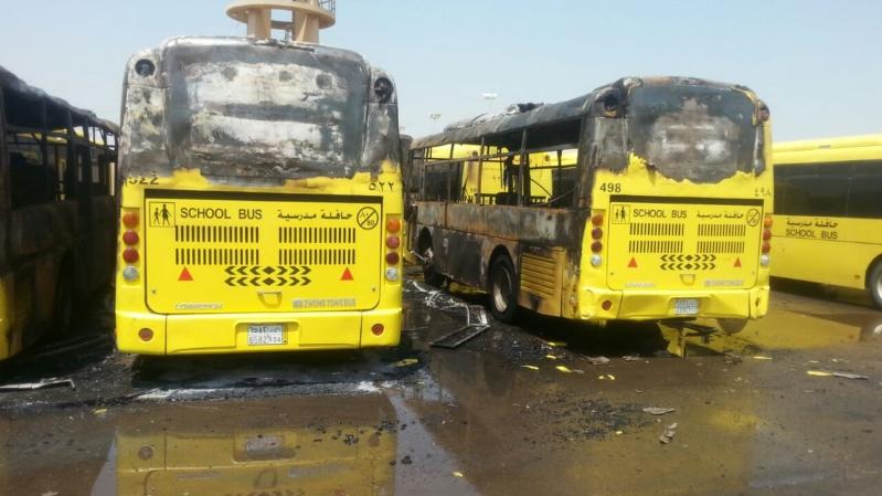 حريق 7حافلات بجازان14