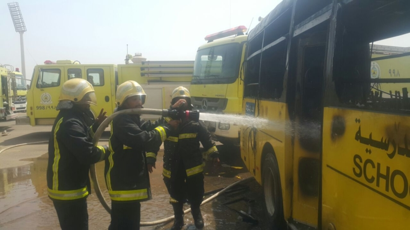 حريق 7حافلات بجازان3
