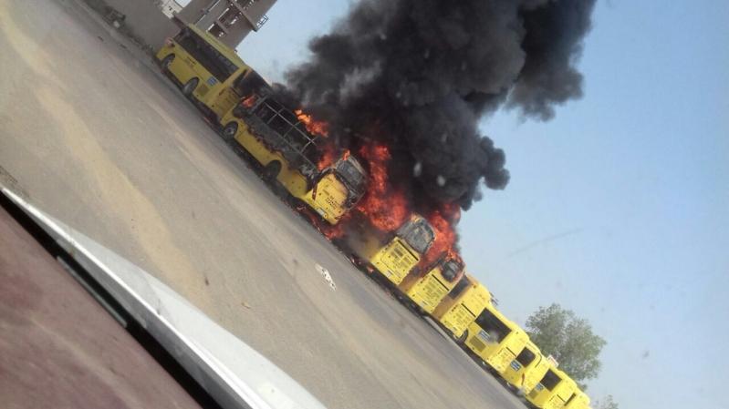 حريق 7حافلات بجازان8