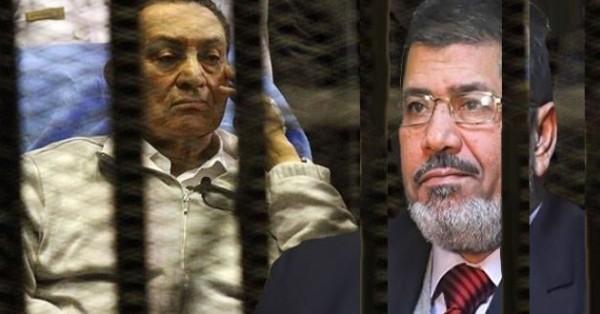 حسني-مبارك-ومرسي-في-السجن