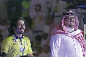 حسين عبدالغني مع فيصل بن تركي