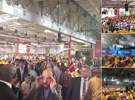 حشود المعارضة الإيرانية في باريس تصدم ملالي طهران