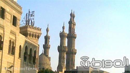 حشود واعلام وتدابير امنية احتفاء بالملك بجامع الازهر (1)