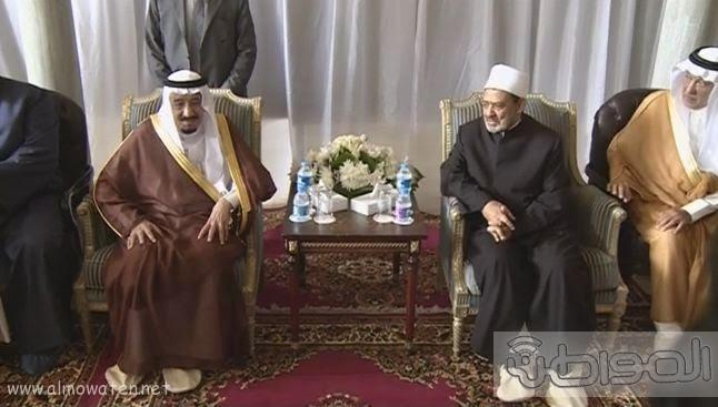 حشود واعلام وتدابير امنية احتفاء بالملك بجامع الازهر (3)