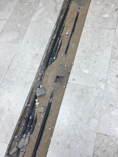 حفرة صالة مبنى جامعة الطائف 3
