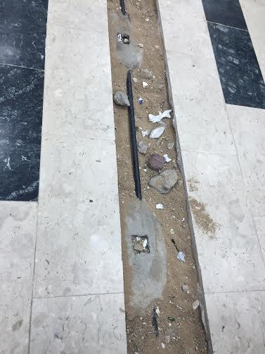 حفرة صالة مبنى جامعة الطائف 5