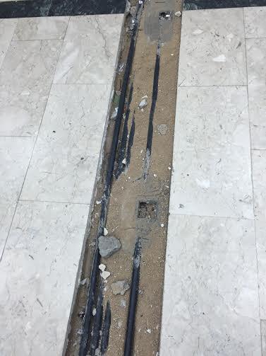 حفرة صالة مبنى جامعة الطائف 6