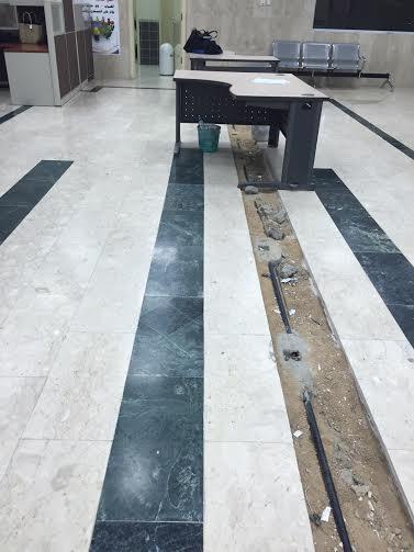 حفرة صالة مبنى جامعة الطائف 7