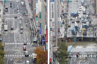 ما سر اختفاء حفرة هائلة الحجم من شوارع اليابان خلال يومين فقط - المواطن
