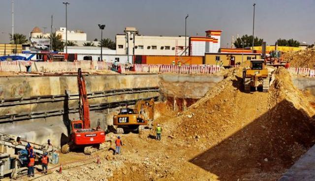 تواصل الحفر في المسار الثالث لقطار الرياض بعمق 13 متراً - المواطن
