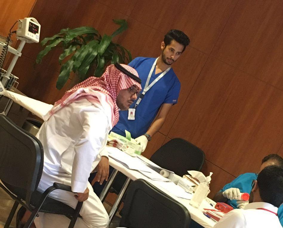 حملة التبرع بالدم بمستشفى الامام عبدالرحمن الفيصل (1)