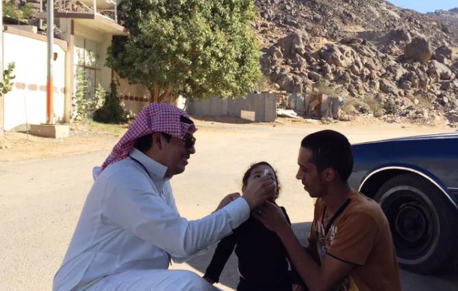 حملة تطعيم ضد شلل الاطفال بنجران
