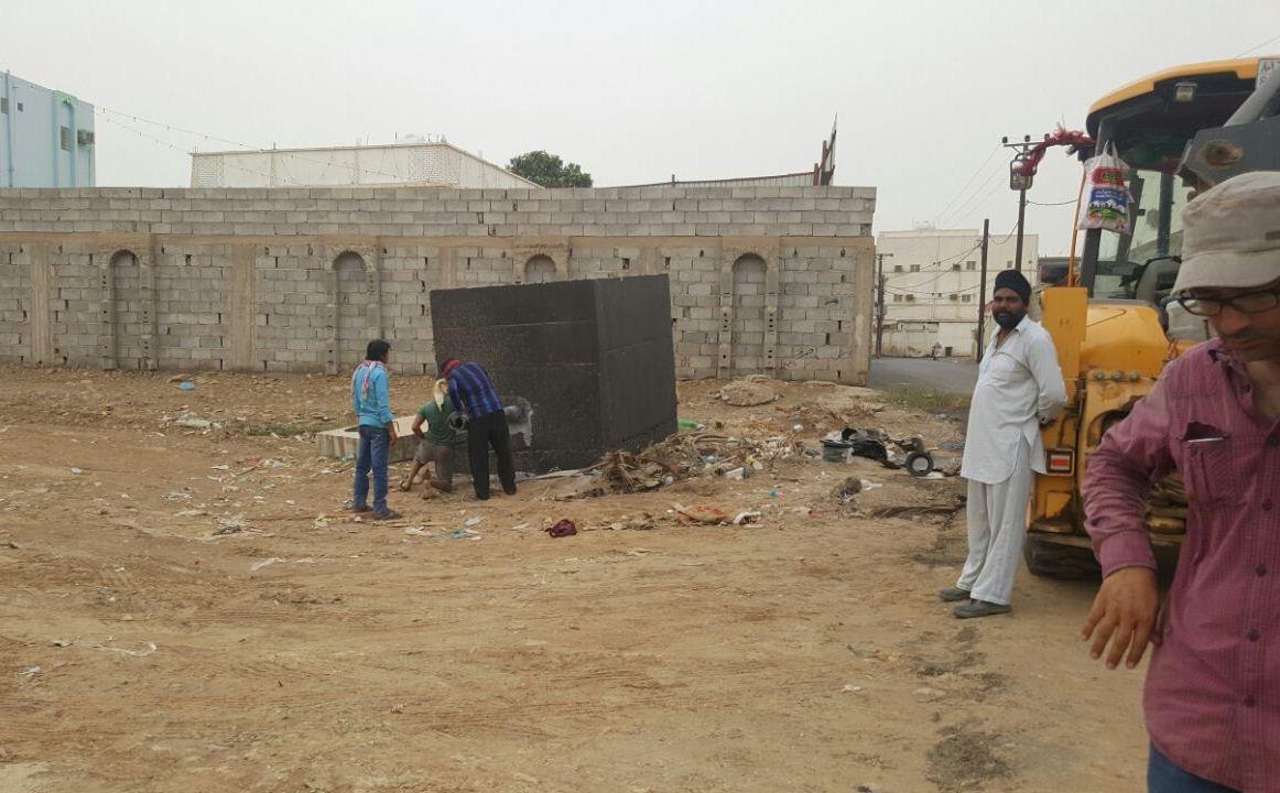 حملة تطوعية لنظافة مقابر الظبية وصيانتها (5)