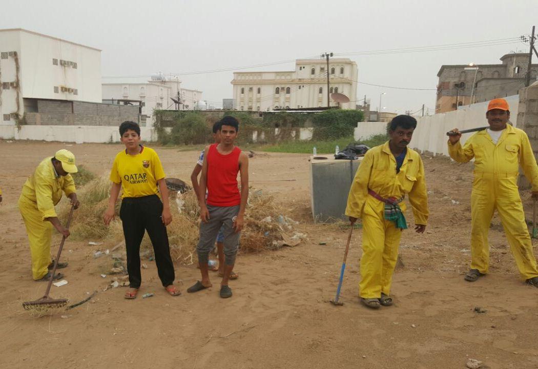 حملة تطوعية لنظافة مقابر الظبية وصيانتها (6)