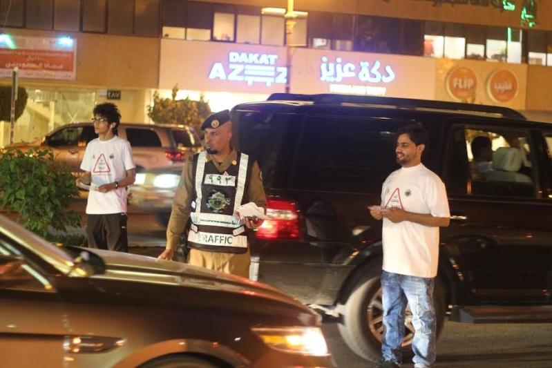 حملة توعوية في شوارع الرياض لتخفيض الحوادث والإعاقة والإصابات