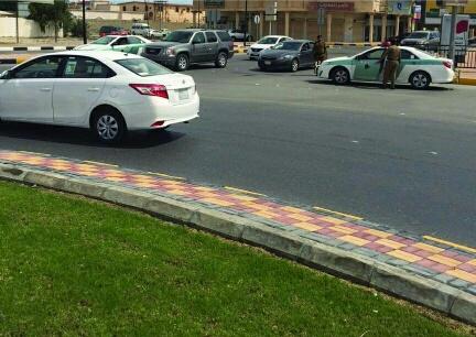 حملة مرورية لاحترام المشاة بشوارع الخفجي (2)
