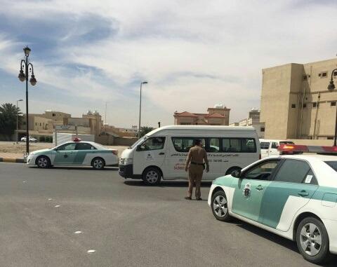 حملة مرورية لاحترام المشاة بشوارع الخفجي (6)