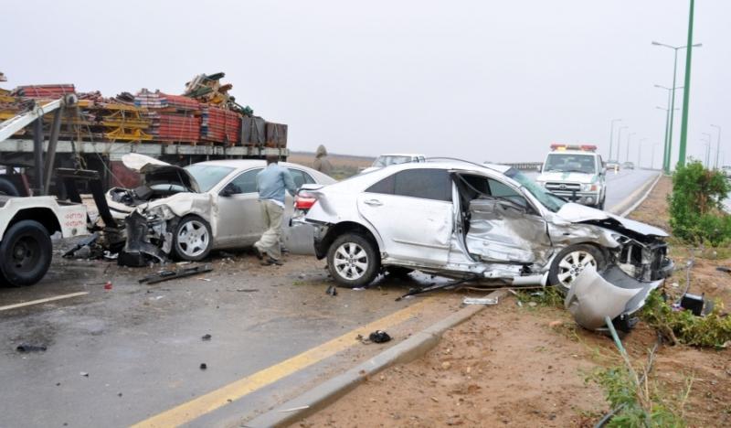 حوادث المملكة السعودية حادث تصادم