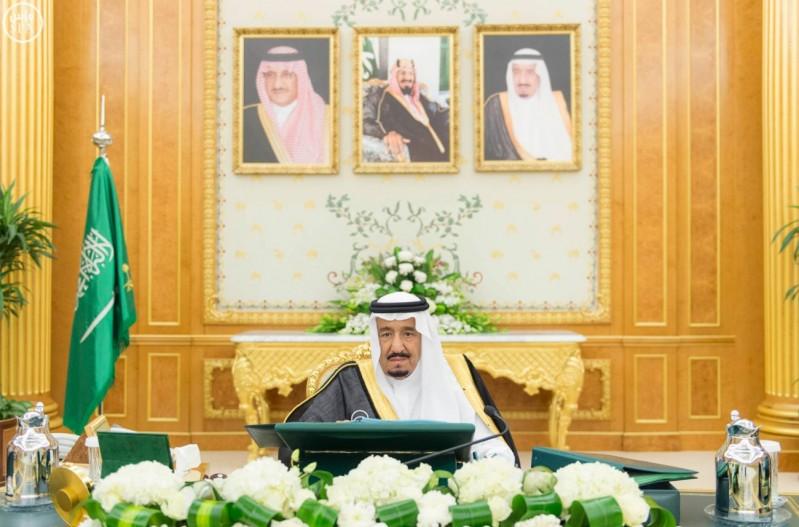 خادم الحرمين الشريفين يرأس جلسة مجلس الوزراء (واس) 05-01-1437 هـ 3