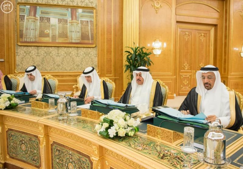 خادم الحرمين الشريفين يرأس جلسة مجلس الوزراء (واس) 05-01-1437 هـ 9