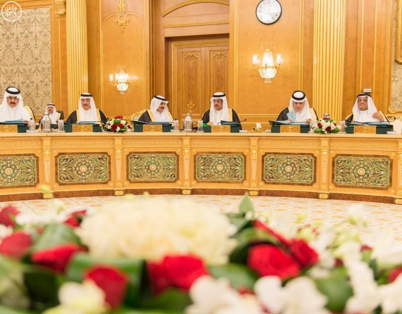 خادم الحرمين الشريفين يرأس جلسة مجلس الوزراء (واس) 28-12-1436 هـ 6